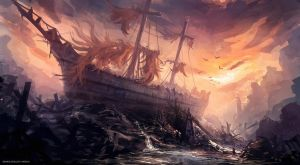 old shipwreck by xpe