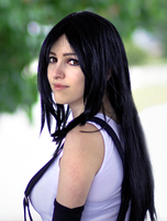 FF7 Tifa close-up by ladylucienne