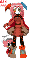 Charlotte Worm Magical Witch form (666 ARTS) by Music-Lovette123