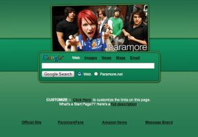 Paramore Startpage by AwesomeStart