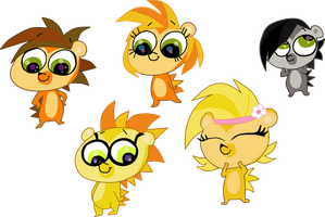 Little hedgehogs by HeinousFlame