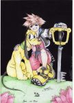 Sora and Pluto by X-Seion-X