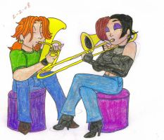 ShaunxOphe - Practicing by TromboneGothGirl84