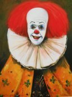 Clown With A Ruffled Collar by HillaryWhiteRabbit