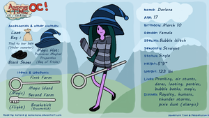 ADVENTURE TIME OC: Darlene the Bubble Witch (MEME) by FrozenStrike