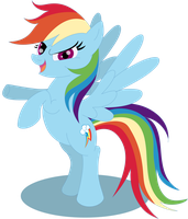 "Rainbow Dash 'bring it on"" by Elsdrake"