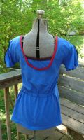 Upcycled Superman Shirt Back by Eliea