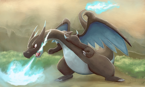 Mega Charizard X by Boshy00