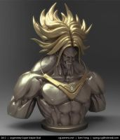 Legendary Super Saiyan Bust, Brolly 2012 by cg-sammu