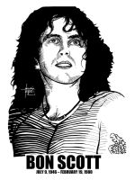 DSS No. 32 - Bon Scott by gothicathedral