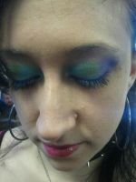 peacock eye shadow by janielle623