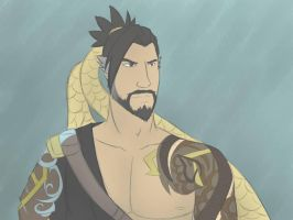 Hanzo Drawing by SoulKibano