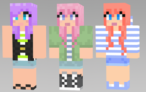 minecraft girl skins by MegaChainsawKitty