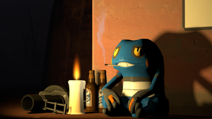 Typical day of Croagunk's life. by FranckyFox2468