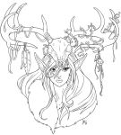 Crown of Antlers by AmyClark