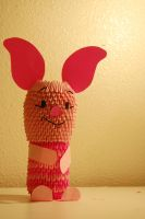 3D Origami Piglet by iBeautyLovely