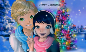 Merry Christmas Adrien and Marinette by axdrienette