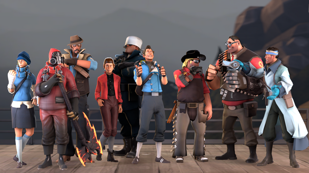 Toky SFM - The Gang's All Here by Stormbadger