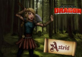 Astrid forest training [remake] by Viky1234xx