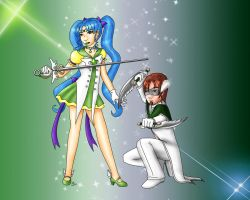 Sailor Deneb and White Guard by mintjam
