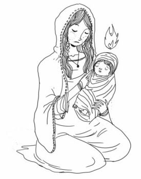mary and child. by boobookittyfuck