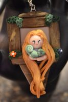 Rapunzel in Tower Keychain by ArtistInspirations