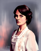 Lady Mary Crawley by fluffy-fuzzy-ears