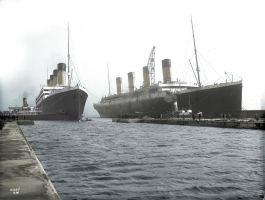 Olympic and Titanic by AlexandraTitanic1912