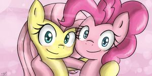 Pinkie pie and fluttershy pff's by lyka12345