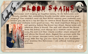 Cosplay Tip 36 - Blood Stains by Bllacksheep