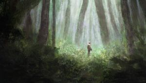 Soldier in a forest by WiredHuman