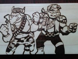Bebop and Rocksteady by 9FIVE7