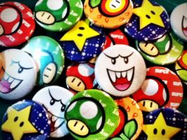 Super Mario pins by luigipanda
