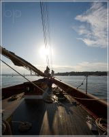 Sailing into the sunset by ByteStudio