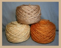 Tea dyed yarn by KnitLizzy