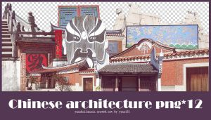 Chinese Architecture png pack #01 by yynx151