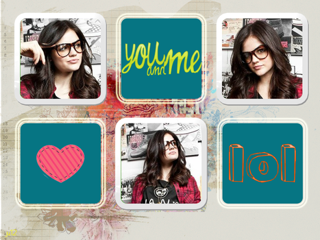Lucy Hale Collage by MischiefIdea