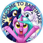 BronyCon 2014 - Welcome To Baltimare Pin by Centchi