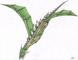 Emerald Dragon 2 by chilledsashel