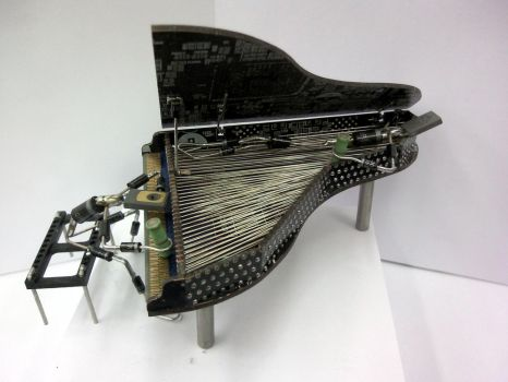Piano with figures by Destro2k