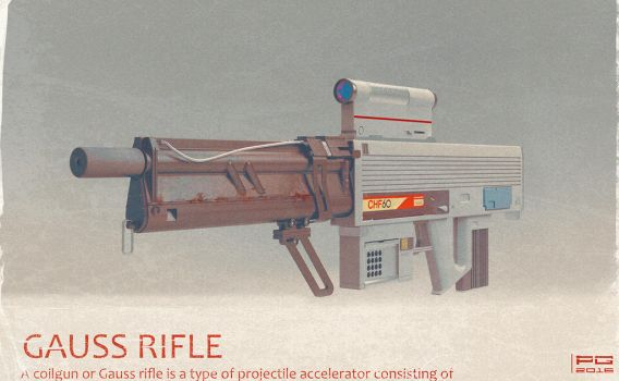 Gauss rifle 3D by ProxyGreen