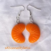 Tangerine Earrings by xXSceneStyleXx