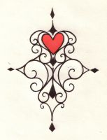 Heart Swirl Tattoo Design by NatzS101