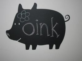 Pig Chalkboard Decal Design by WilsonGraphics