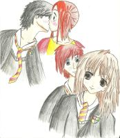 Harry Potter couple sketch by ElvenWarrior14