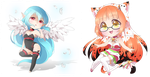 Chibis for Mireille by Neko-Rina