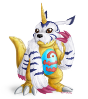 Gabumon by Hexterian