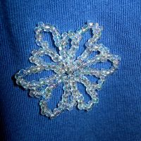 Snowflake Pin by UrsulaPatch