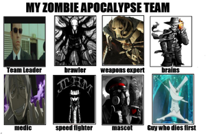 my zombie apocalypse team by ShadowChaser12