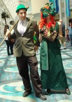 Riddler and Poison Ivy at Long Beach Comic Con 201 by trivto